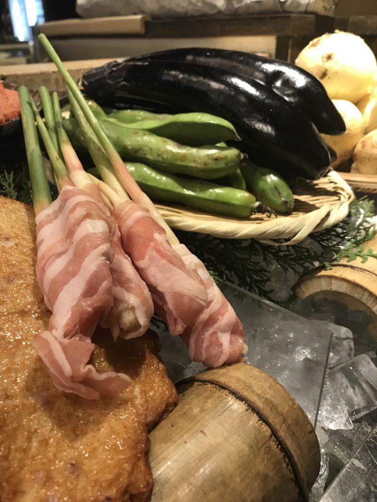葉生姜の豚肉巻き