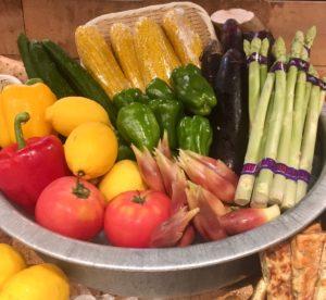 夏野菜を使った