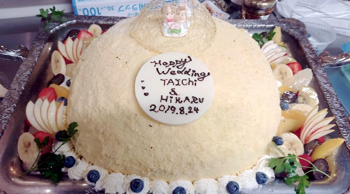 ウェディングケーキの準備