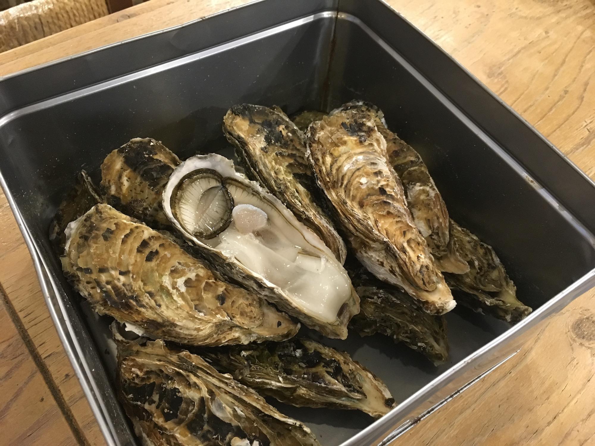 牡蠣のカンカン焼き