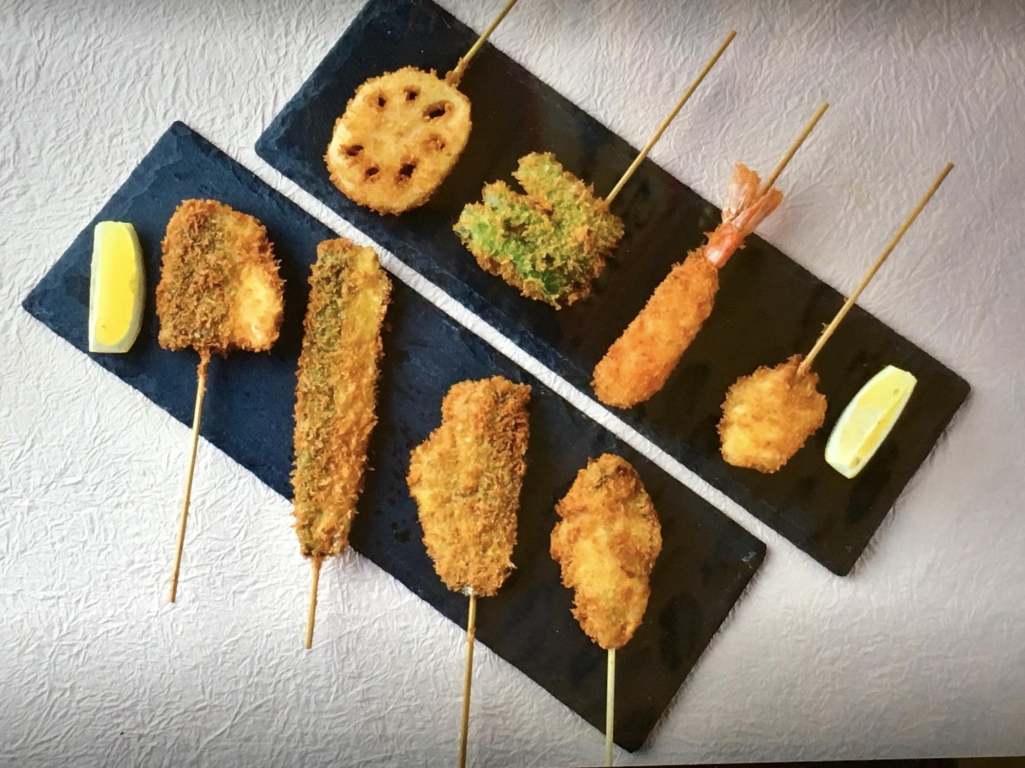 魚の串カツ