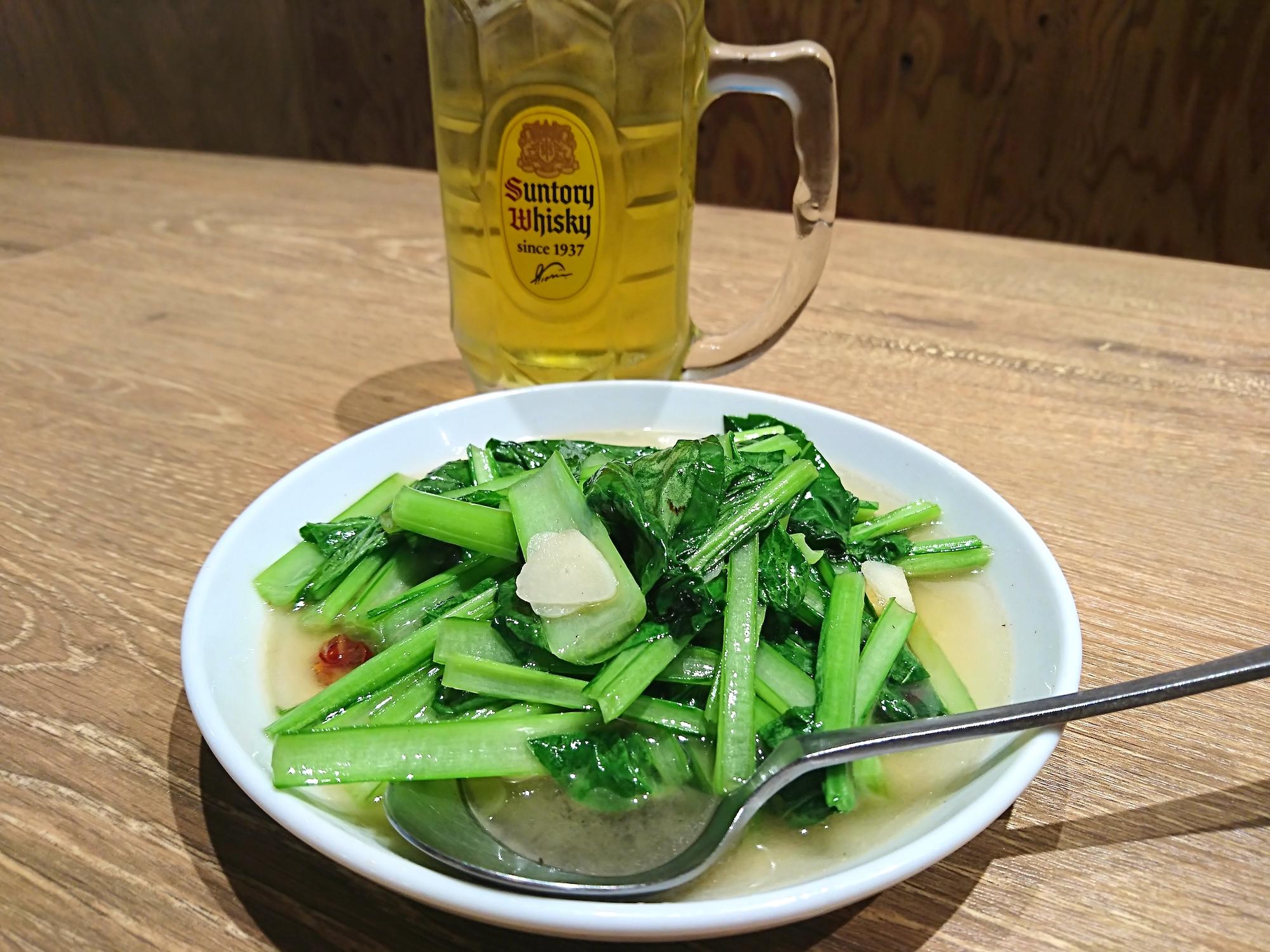 青菜炒め!