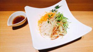 錦糸野菜の特製リンゴソース添え