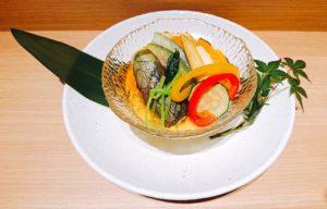 夏野菜の冷製茶碗蒸し